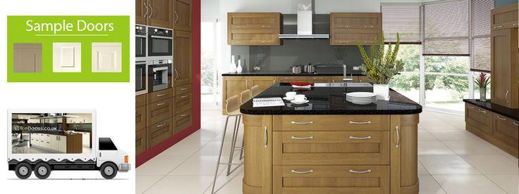 Woodgrains Doors - Get wood grain replacement kitchen cupboard doors at TopDoors.co.uk at affordable price, Make your kitchen look classy with wood grain kitchen cabinet doors