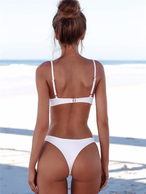 f1dabf8a0 Sexy Solid Tight Bikinis Swimwear in 2019