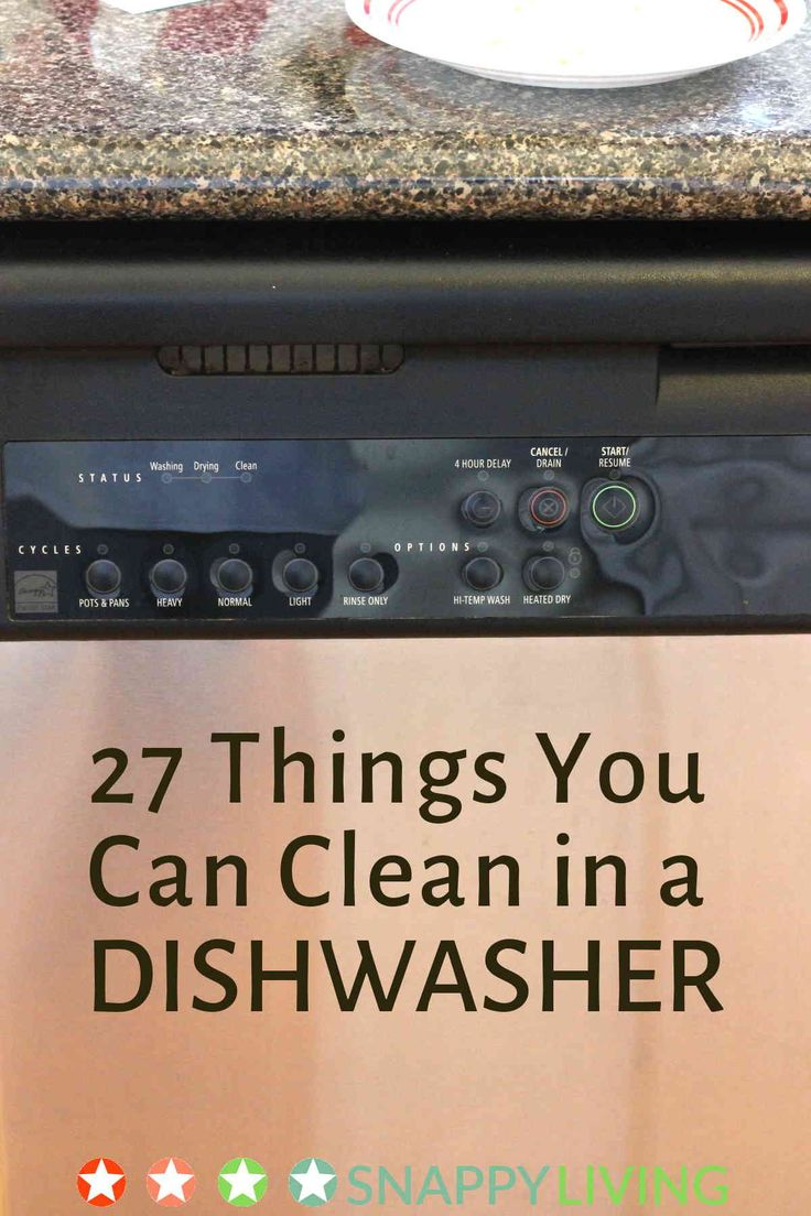'27 things you can clean in a dishwasher...!' (via Snappy Living)