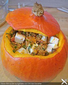 Gefüllter Hokkaido - Kürbis, ein schönes Rezept aus der Kategorie Halloween. Bewertungen: 189. Durchschnitt: Ø 4,4.