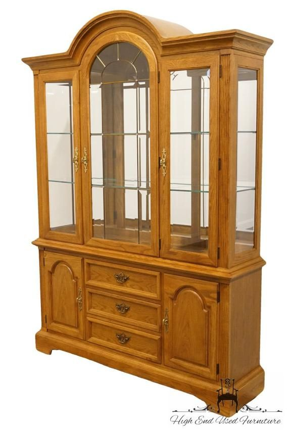 Stanley Furniture Country French 60 Lighted Display Etsy China Cabinet Stanley Furniture French Country