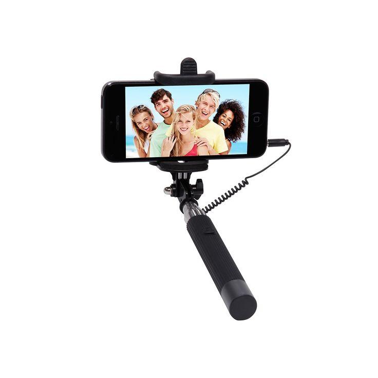 Des photos parfaites grâce à cette perche à selfies : cet accessoire de poche permet de prendre des photos individuelles ou de groupe beaucoup plus facilement. Il suffit de fixer un smartphone grâce aux vis et de déclencher la prise de photo. Un grand angle pour vos photos de vacances et une super idée pour les fans de voyage !