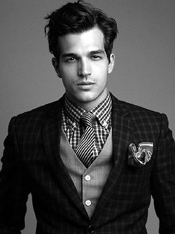 Plaids with stripe tie