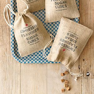 Easy to make, great to give as gifts, and fun to use, these Espresso-Flavored Sugar Cubes do it all.