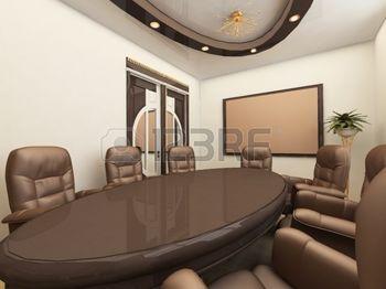cielo raso: Mesa de Conferencia en el interior de la Oficina