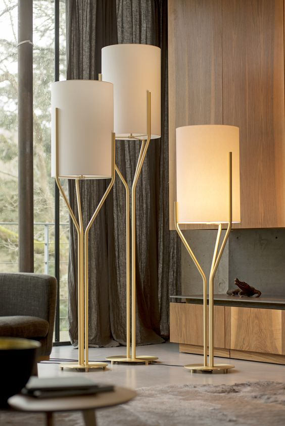 trees floor lamps design by herve langlais