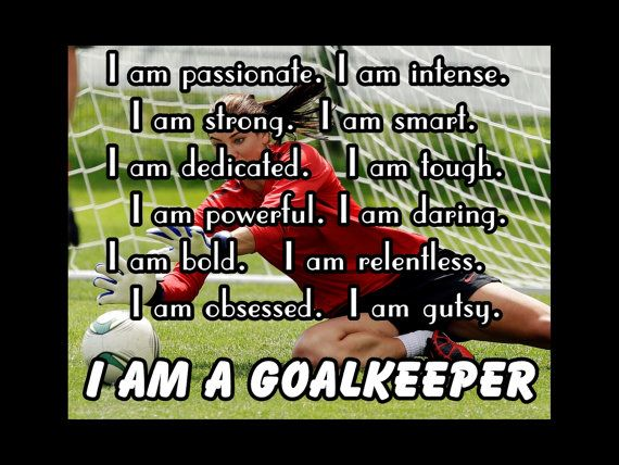 Soccer Poster I Am A GoalKeeper Player Photo by ArleyArtEmporium