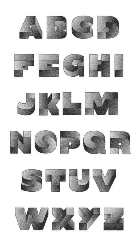 Oxymora Typeface by Birgit Palma, via Behance