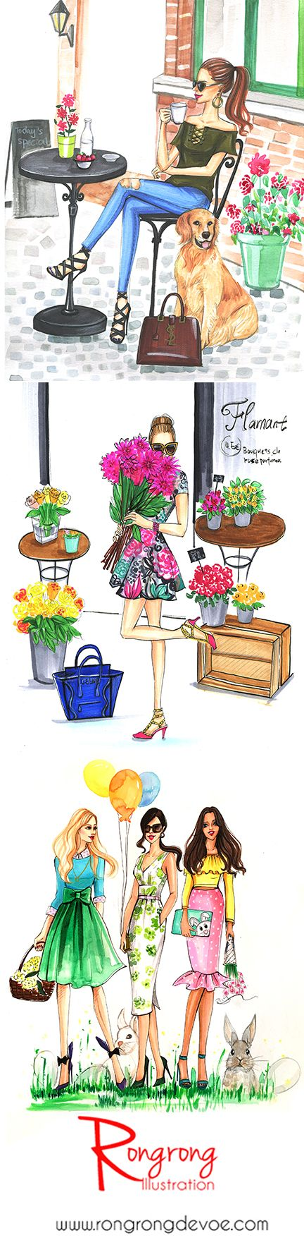 Rongrong DeVoe Illustration Portfolio – Hand Drawing Fashion Illustrator and Artist based in Houston, United States. More of her fashion illustrations at www.rongrongdevoe.com