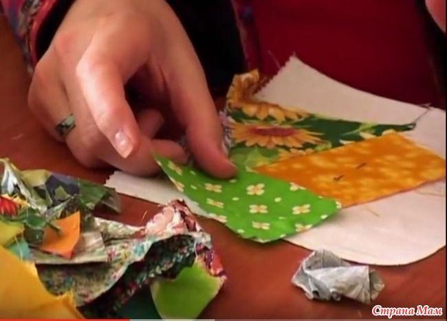 Лоскутное шитье для начинающих. Сумасшедший квилт (видео)