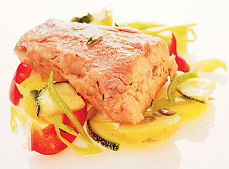 Varmrökt lax med potatissallad | Recept.nu