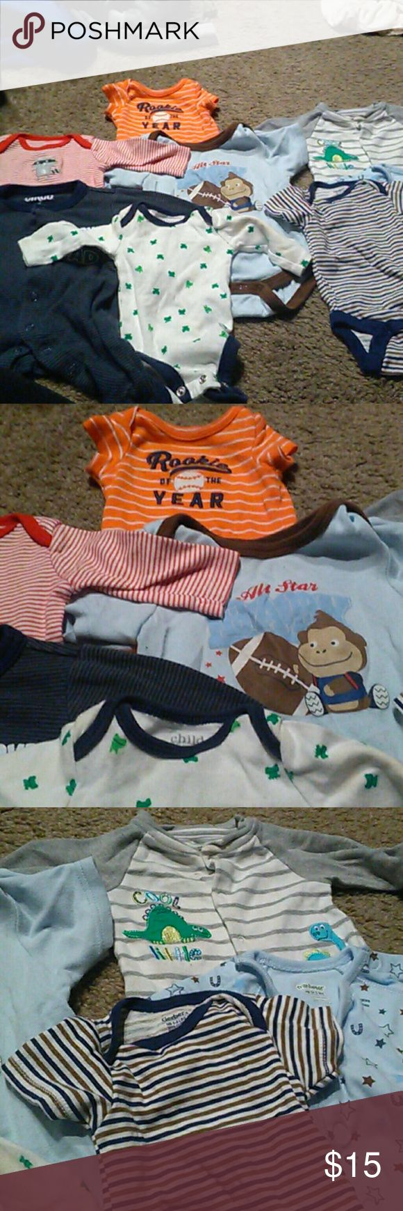 NB Onesie bundle #5 Most new some worn few times brands like caters, Gerber's , bon bebe One Pieces