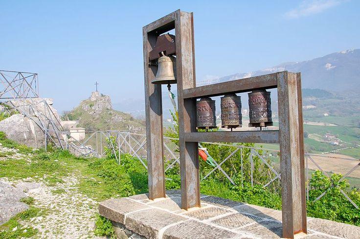 Tibetan bells over Pennabilli, Emilia-Romagna, Italy