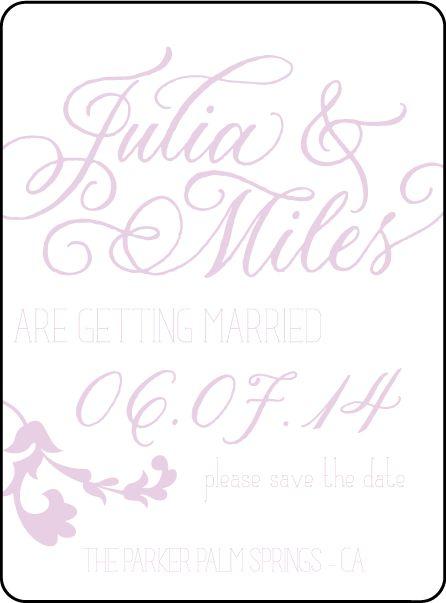 Letterpress Wedding Save the dates | Vintage Gardiner Design | Bella Figura Letterpress
