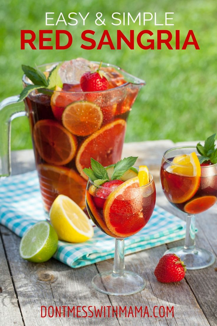 Easy Red Sangria | Recipe | Summer, Red sangria and Cocktails