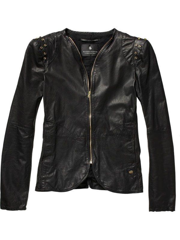 Jackets - Leather Jacket - Maison Scotch
