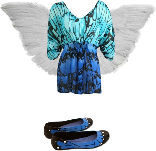 """""""disfras de mariposa"""" by arianafigari ❤ liked on Polyvore"""