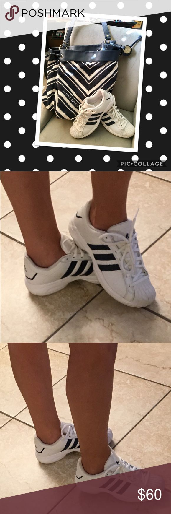 Vintage Adidas Superstar 2G Vintage Adidas Superstar 2G shoes! In excellent used condition. See pics for wear, feel free to ask questions too. These are technically men's shoes (size 7) I am a 9 to a 10 in shoes and these fit perfect 👌 Elevate your lounge look with these unique kicks. adidas Shoes