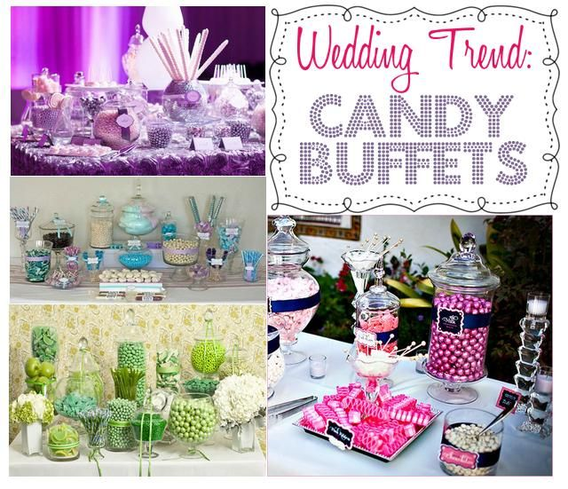 Wedding Trend: Candy Buffets | Candy, flowers , party ...