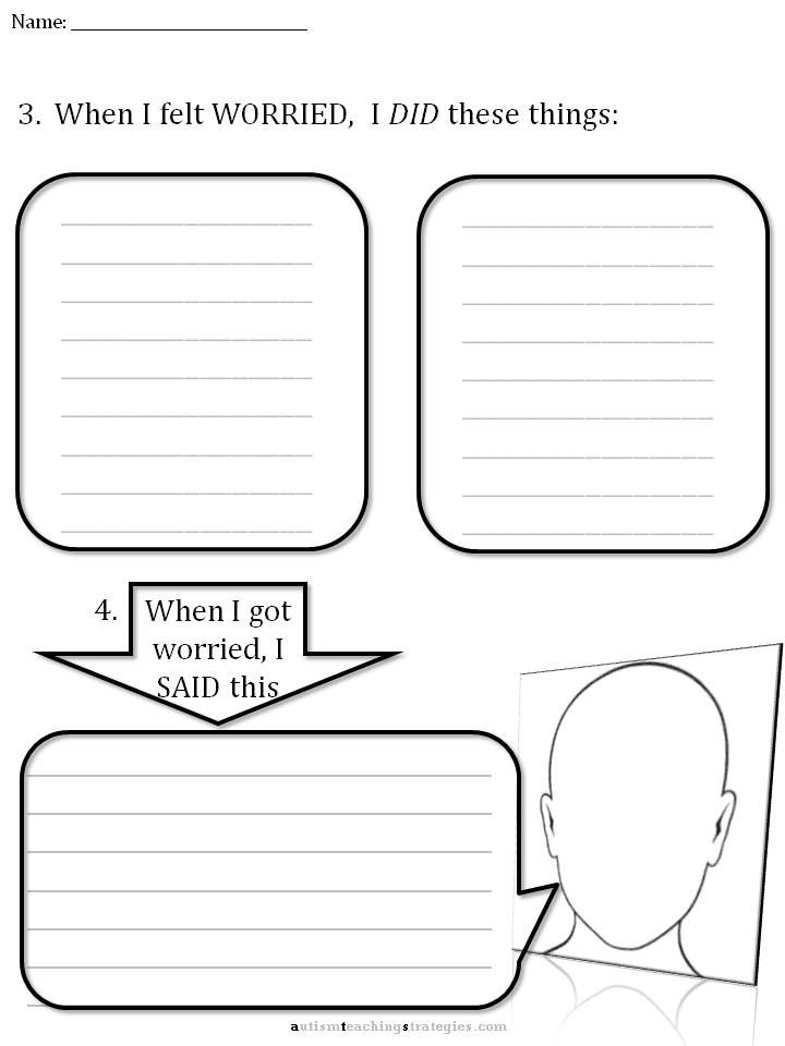 CBT Children's Emotion Worksheet Series: 7 Worksheets for Dealing with Anxiety