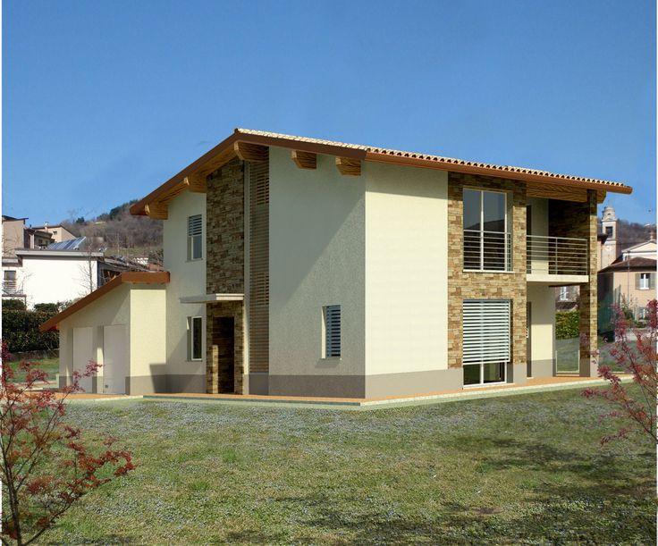 Nuova villa Biohaus in costruzione in provincia di Bergamo