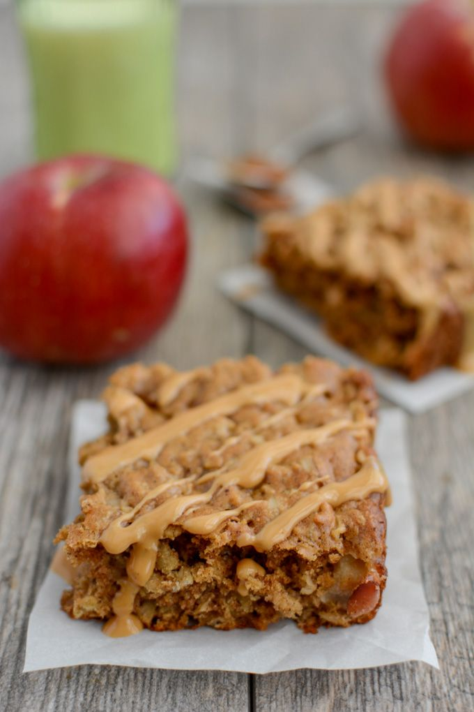 Bursting with fall flavor, these Apple Cinnamon Breakfast Bars are kid-friendly and full of protein and fiber for a healthy breakfast or snack.