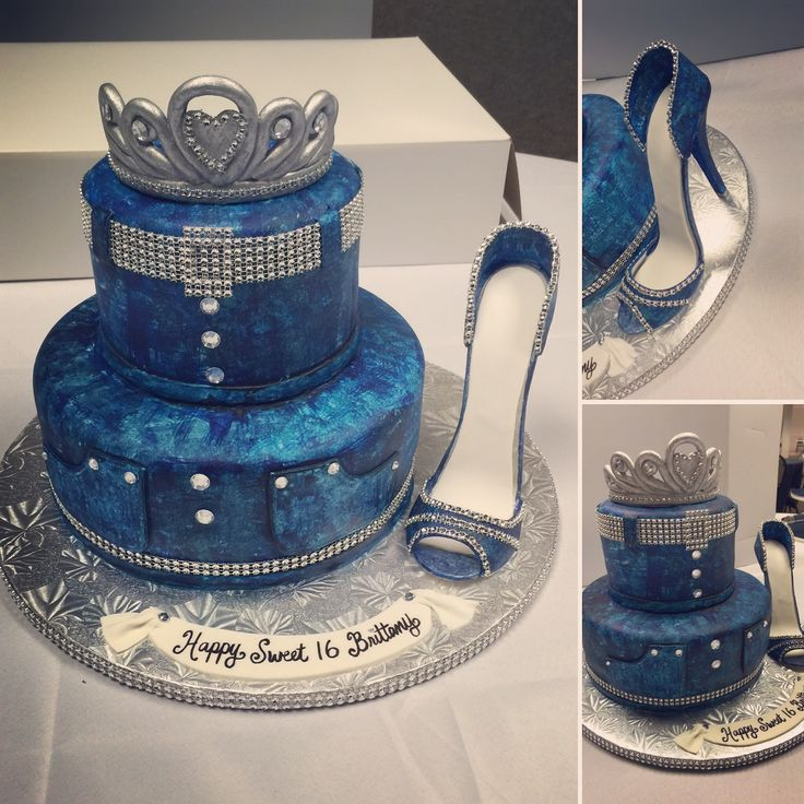 Diamond and denim themed sweet 16 cake made by Kakes By Kena