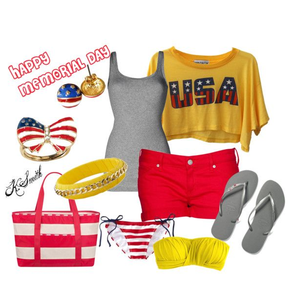 memorial day, created by kgdsmith on Polyvore: Girls Codes, Memories 11/9, Clothing Wear, Memories Day, American Girls