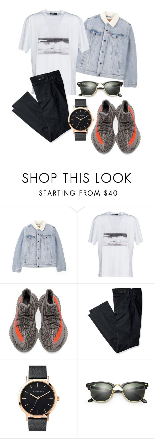 """outfit#95"" by alifia-fae on Polyvore featuring Levi's, Raf Simons, adidas, The Horse, Ray-Ban, men's fashion and menswear"