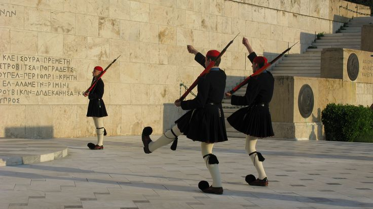 Evzones, changing of the guards, Athens, Greece, 2009