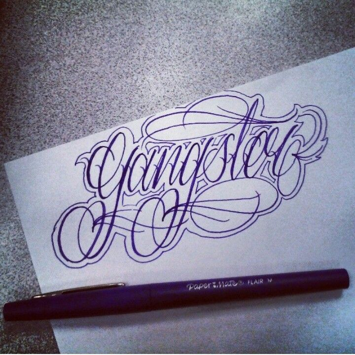 Tattoo designs, lettering, gangster , art