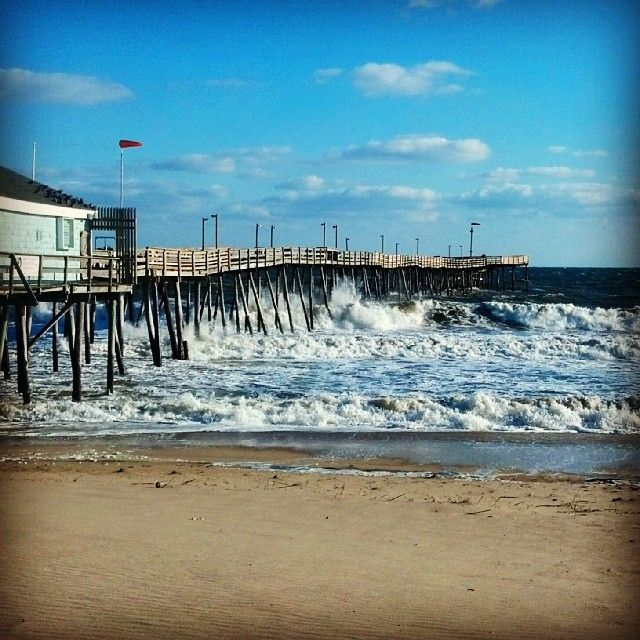 avalon fishing pier in kill devil hills north carolina on
