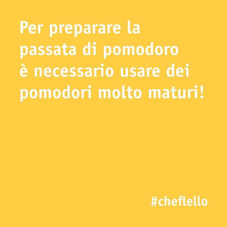 Volete preparare una deliziosa passata di pomodoro? Seguite il nostro tips! 🍅🍅🍅  -⠀  #chefincamicia #passatadipomodoro #pomodoro #yummy #food #delicius #italianchef #italianrecipe #recipe #foodie #food