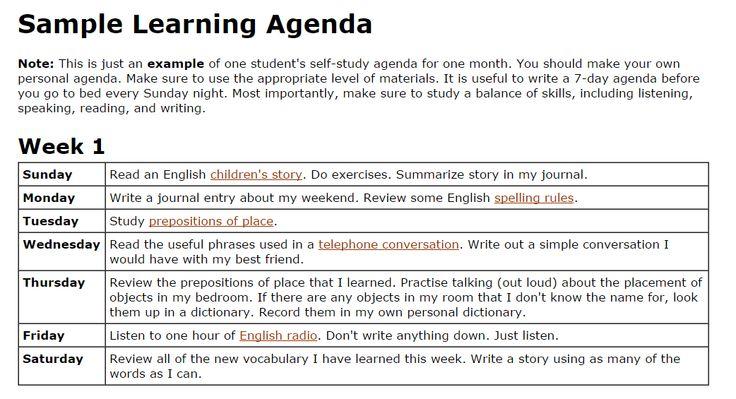 www.agendaweb.org - ENGLISH EXERCISES: Learn English ...