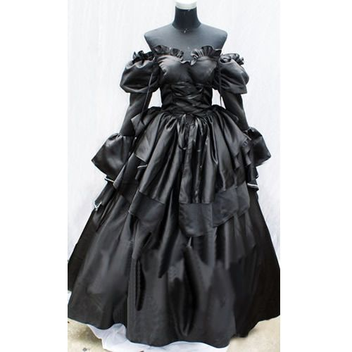 Medieval Black And White Gothic Wedding Ball Gown: 95 Best Images About Goth Wedding Dresses On Pinterest