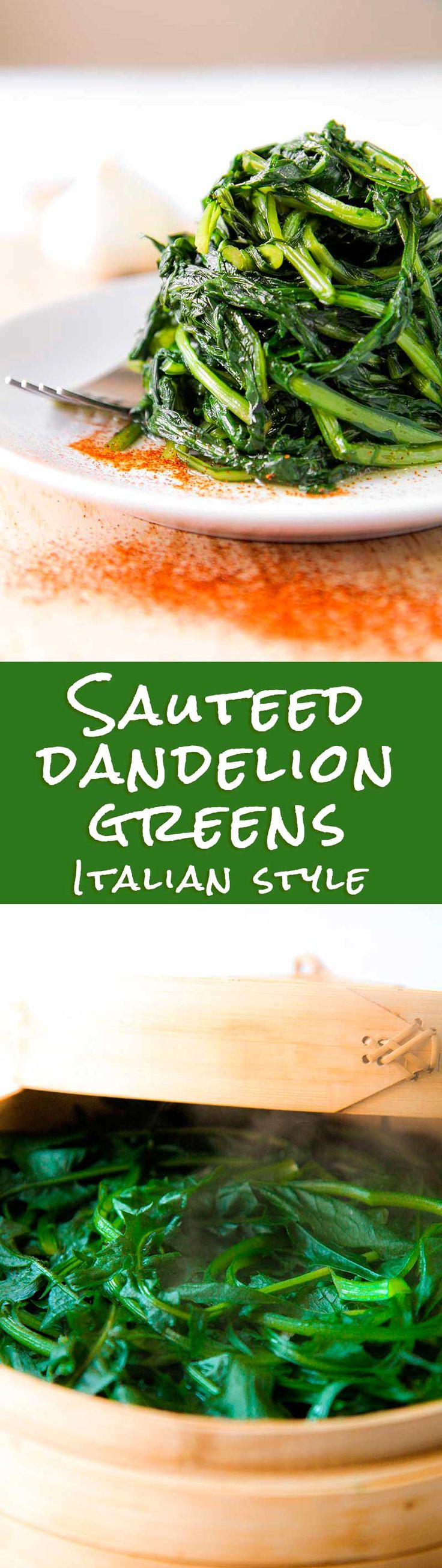 SAUTEED DANDELION GREENS ROMAN STYLE (cicoria alla romana) - Sauteed dandelion greens is a very important ingredient of Roman cuisine. For centuries the most poor Roman familys, use to harvest wild dandelion greens aside the suburbs streets of  the Italian capital, and cook them with simple ingredients. The farmers use to bring sauteed dandelion greens with them eating this vegetables as lunch along with simple homemade bread. This vegetable is both tasty and healthy!  - greens dinner recipe