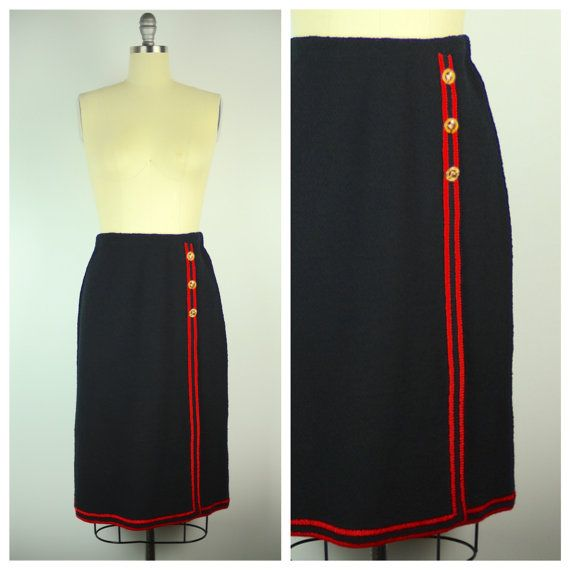 RESERVED Vintage 80s Skirt / 1980s Adolfo Knit Skirt / Medium