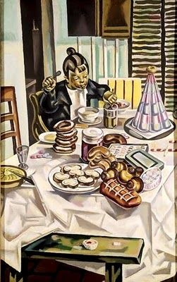 "Maria Blanchard (1881 - 1932) ""Child pastries"" 1924"