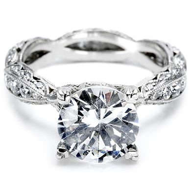 Tacori engagement rings...I love the antique style. I would just want a great big cushion cut morganite instead of a diamond.