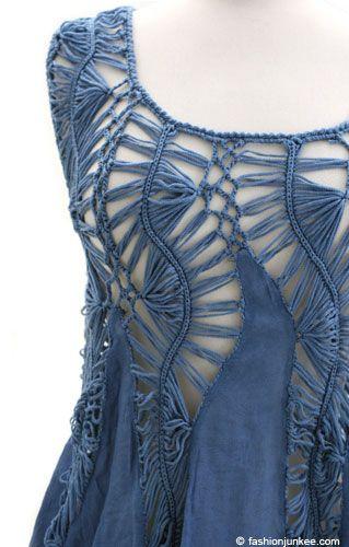 Вязаные детали в одежде