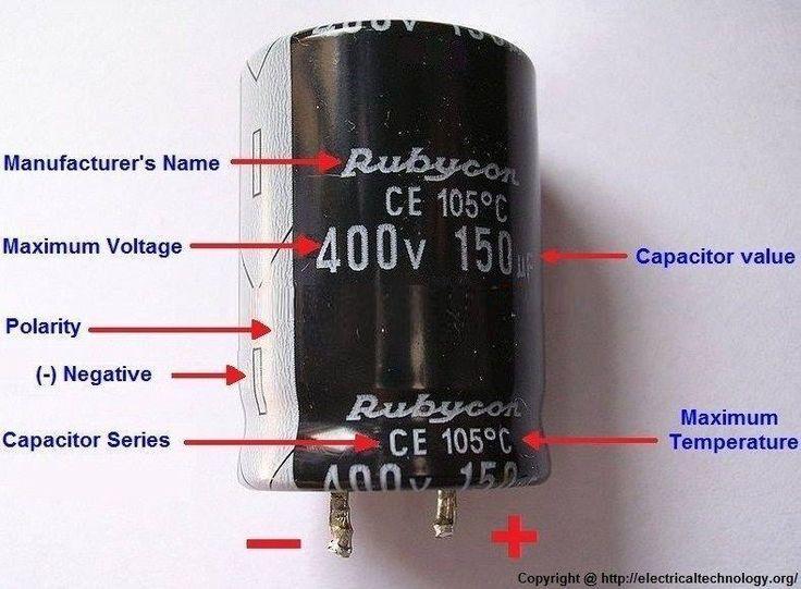 General Capacitor Nameplate Rating (Electrolytic Capacitor).