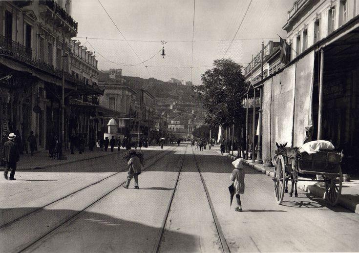 Αθήνα - οδός Αθηνάς  1920  -  Athens, Athena's Street, 1920