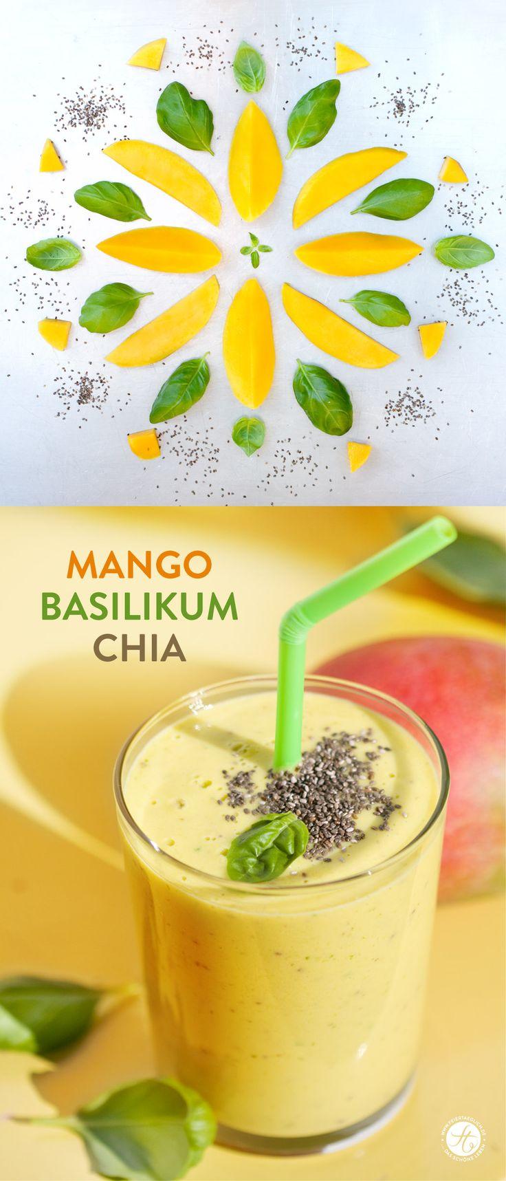 Smoothie-Montag 08: Mango-Basilikum-Chia Smoothie – feiertäglich…das schöne Leben