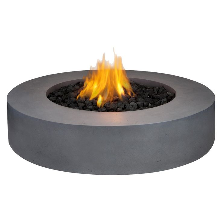 $1080 Real Flame Mezzo Round Fire Table   Target