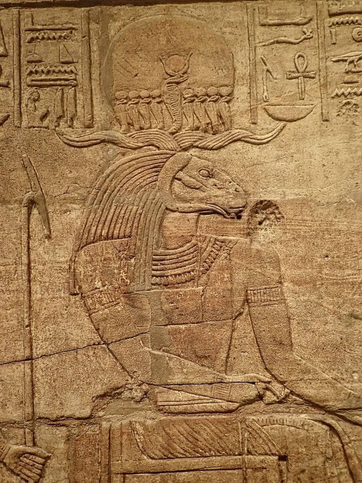 Relief depicting the ram-headed Amun-ra on a shrine erected by Kushite King Taharqa in the court of the Temple of Amun built by him at Kawa in Nubia.Late Period,25th Dynasty 690-64 B.C.