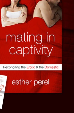 """Misha's Pick---> """"Mating in Captivity""""  Good intimacy doesn't always lead to good sex. Frustrated with your sex life? Esther Perel's book will help you achieve sexual bliss in marriage."""