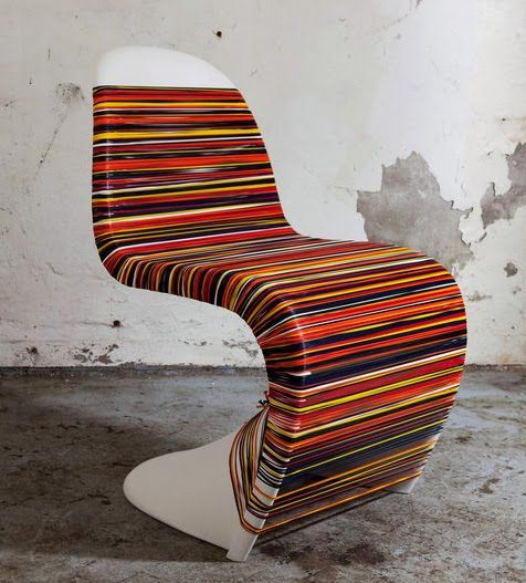 A Customized Panton Chair For Vitra In Honor Of The 50th Anniversary.