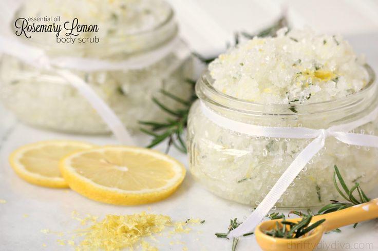 Essential Oil Rosemary Lemon Body Scrub recipe