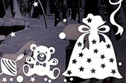 Новогодние оконные украшения из бумаги