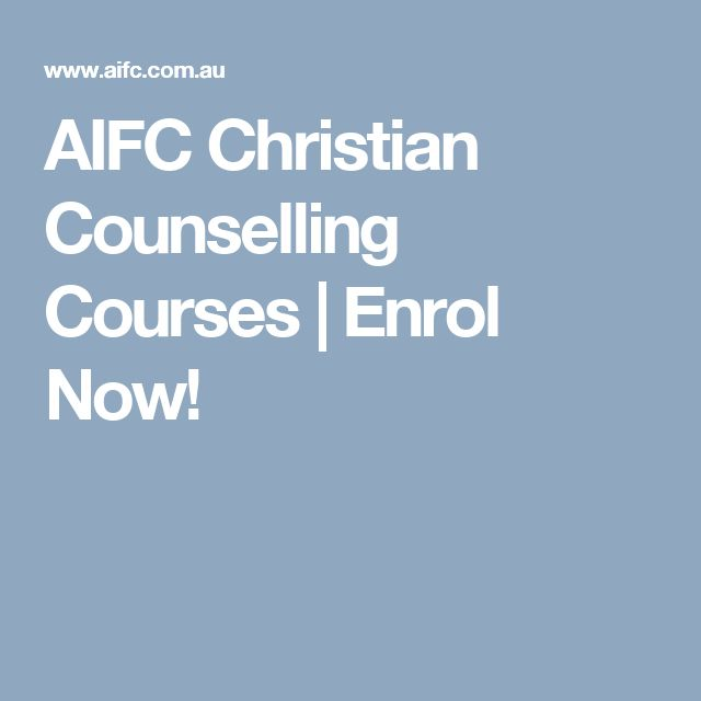AIFC Christian Counselling Courses | Enrol Now!